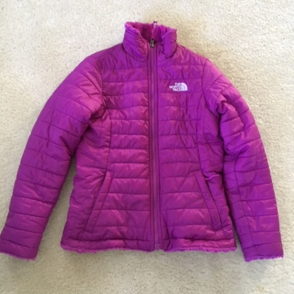 8cb394ba3 North Face Girls reversible Mossbud Swirl Jacket L